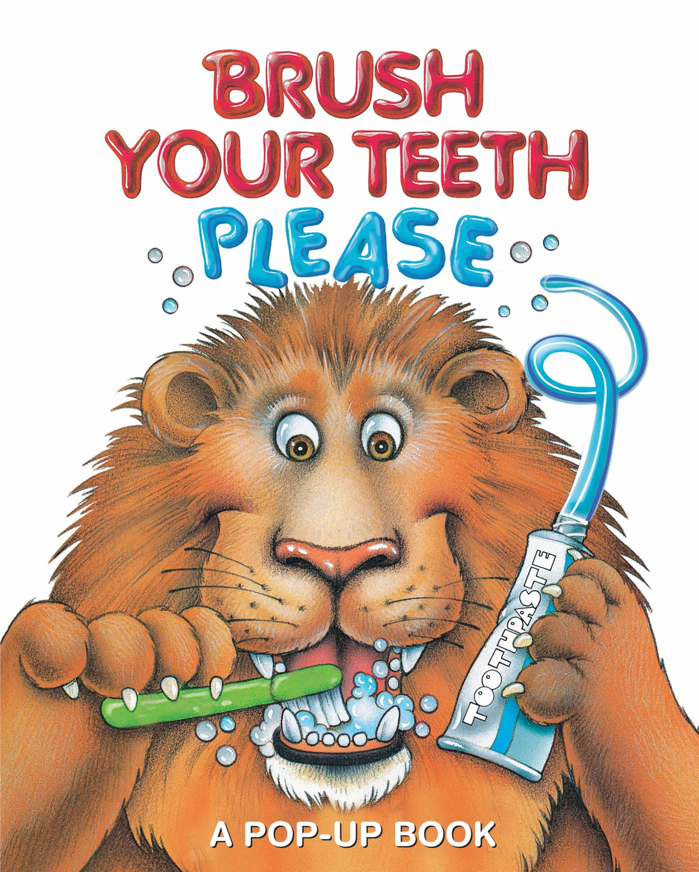 Brush Your Teeth Please, Pop-up dental health book for kids